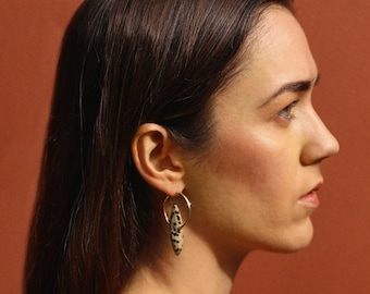 Marquise Earrings - Speckled