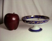 Delicate Antique Morimura Nippon Cobalt Blue and Gold Pedistal Bowl ca. 1910, Free Shipping (282)