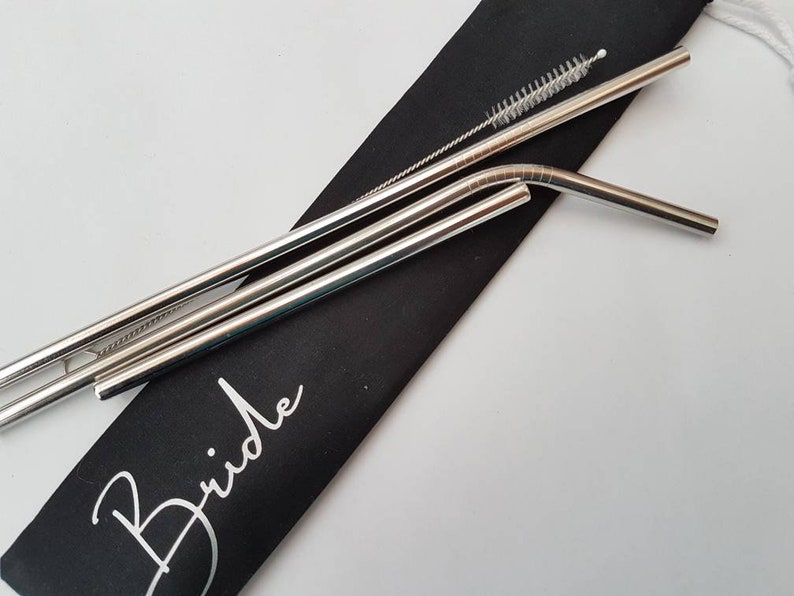 Reusable Straws Wedding Favours Personalised Bag Eco Etsy