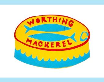 Worthing Mackerel original A5 screen print