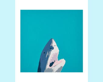 North Laine Shark A4 giclee print