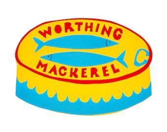 Worthing Mackerel greetings card