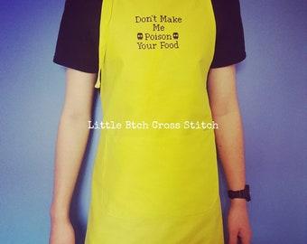 Chefs Apron, Cooks Apron, BBQ Apron, Funny Apron, Cotton Apron, Lime Apron, Cooks Gift, Chefs Gift