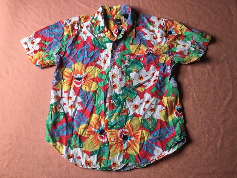 685b2064 1980s LIZWEAR Hawaiian Shirt Rayon LIZ CLAIBORNE Bright Colors | Etsy