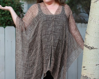 Neutral Shawl Top - Silk