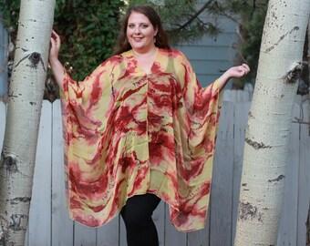 Sunset Shawl Top - Silk