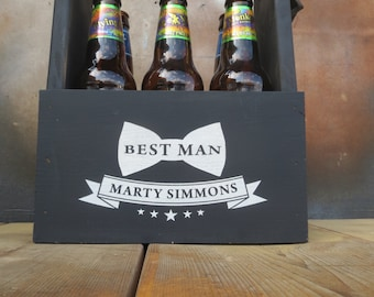 Beer Tote, Beer Caddy, Beer Carrier    Free personalization