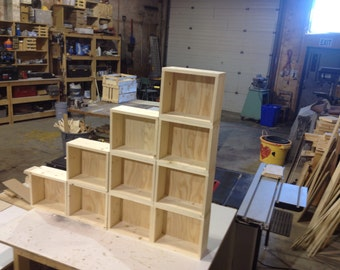 Wooden boxes for craft show displays - retail displays