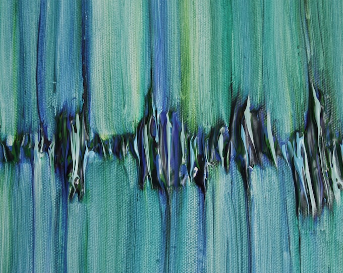 Featured listing image: Donated Custom Heartbeat, Blues and greens