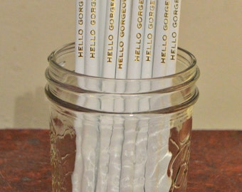 Custom Pencils, set of 15 Personalized Pencils, Engraved Pencils, Pencils, Cross Word, Wedding Favors, Bridal Shower Favor, Party Favor