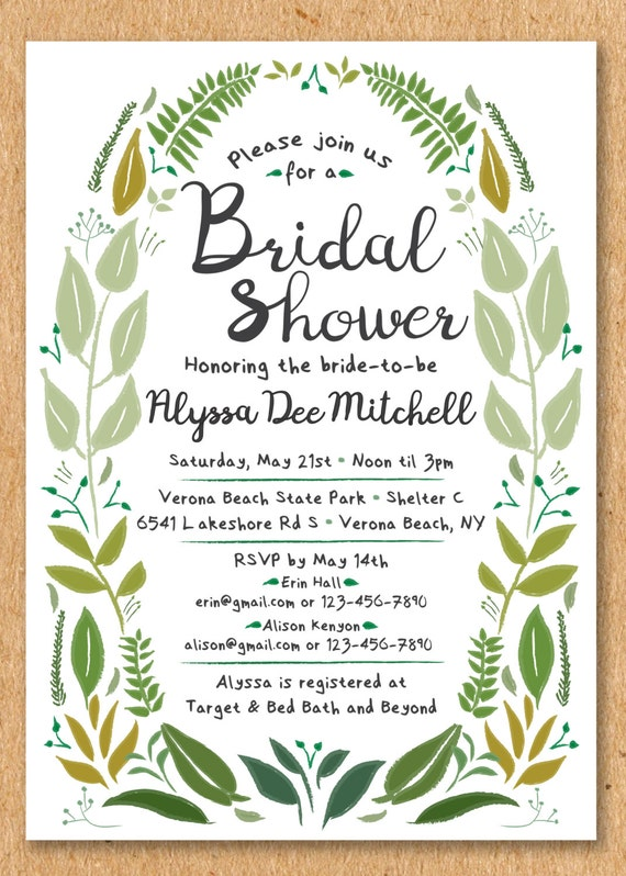 Greenery bridal shower invite garden bridal shower spring etsy image 0 filmwisefo