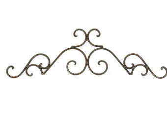 Superbe Tucson Iron Door Topper Architectural Wall Garden 37x10 Wrought Iron  Handmade