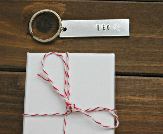 Leo Keychain July August Birthday Gift Zodiac Sign Lion Symbol
