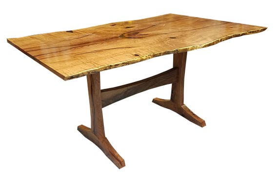 Natural Edge Mesquite Dining/breakfast Table 60 X   Etsy