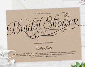 Bridal shower invitations, instant download, Bridal shower invites, wedding shower, printable, invitation templates, #S1-BSETI