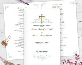 Catholic wedding programs   Etsy