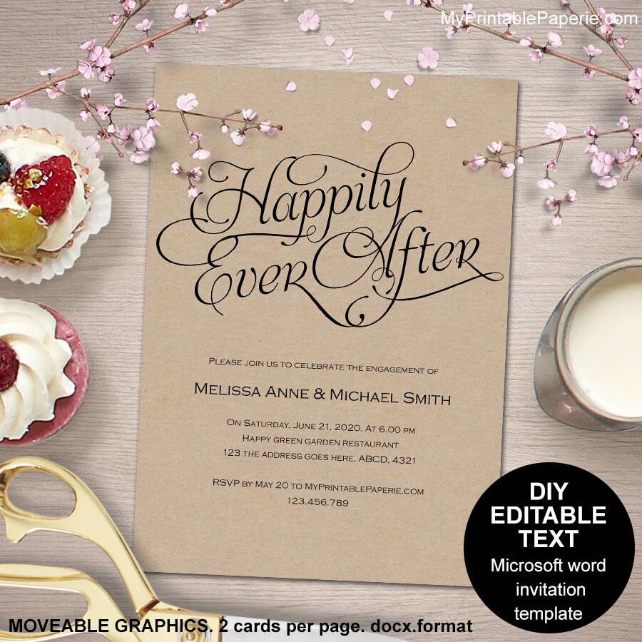 Druckbare Engagement Einladung Verlobungsfeier lädt gerne je