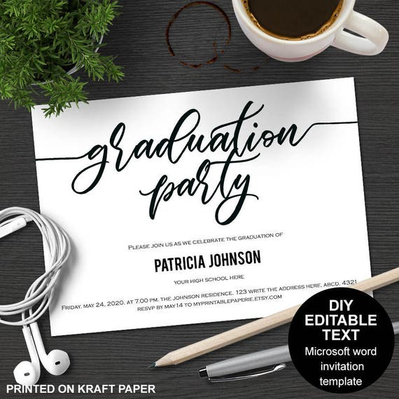 Graduation Party Invitations Graduation Celebration Etsy