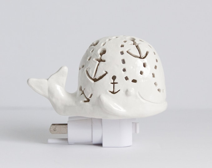 Featured listing image: Handmade Whale Night Light