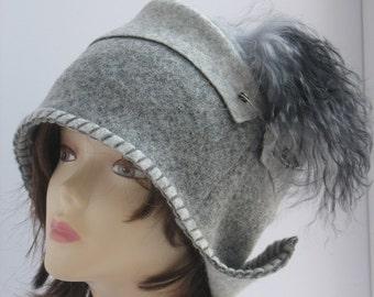 Felted wool hats Womens winter hats Felt hat for women Ladies winter hat Felted 1920s cloche hats Women's wool hat hats for lady fashion hat