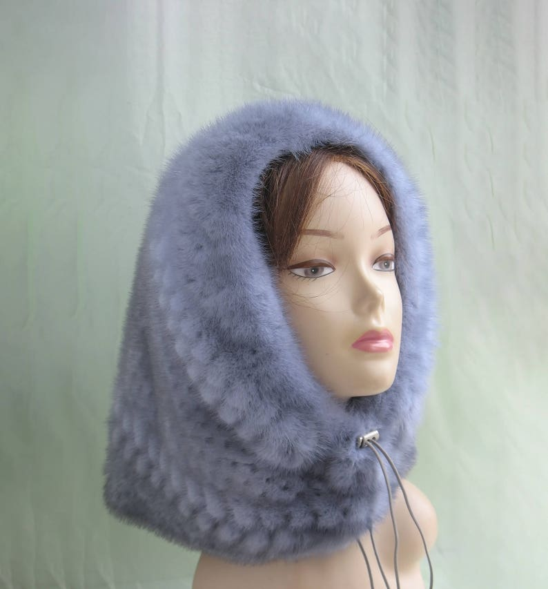 927aa33ecabe1 Real fur snood Gift For Her Mink fur hat Fur Collar Warm Women