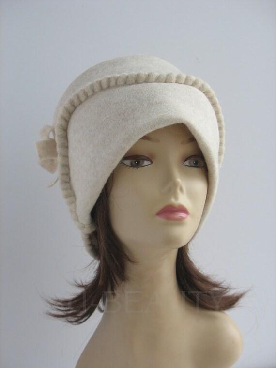 White Felt hat unique felt hat Womens winter hats for women  a52f189ef55