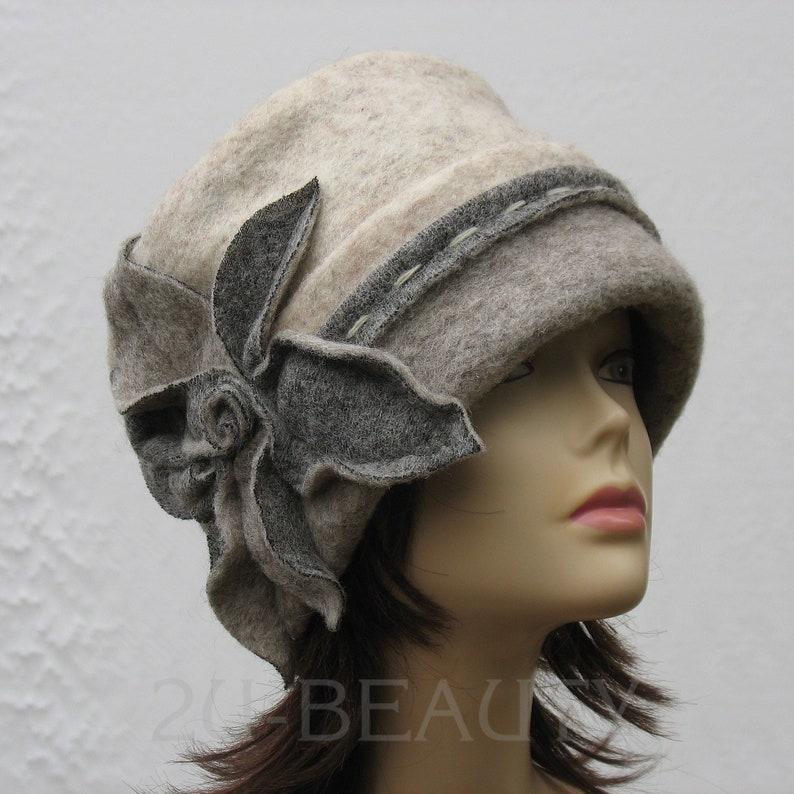 c1f7eb05fb7 Wool Hat Women Winter Hat for Women Gray Felt Wool hat Felted