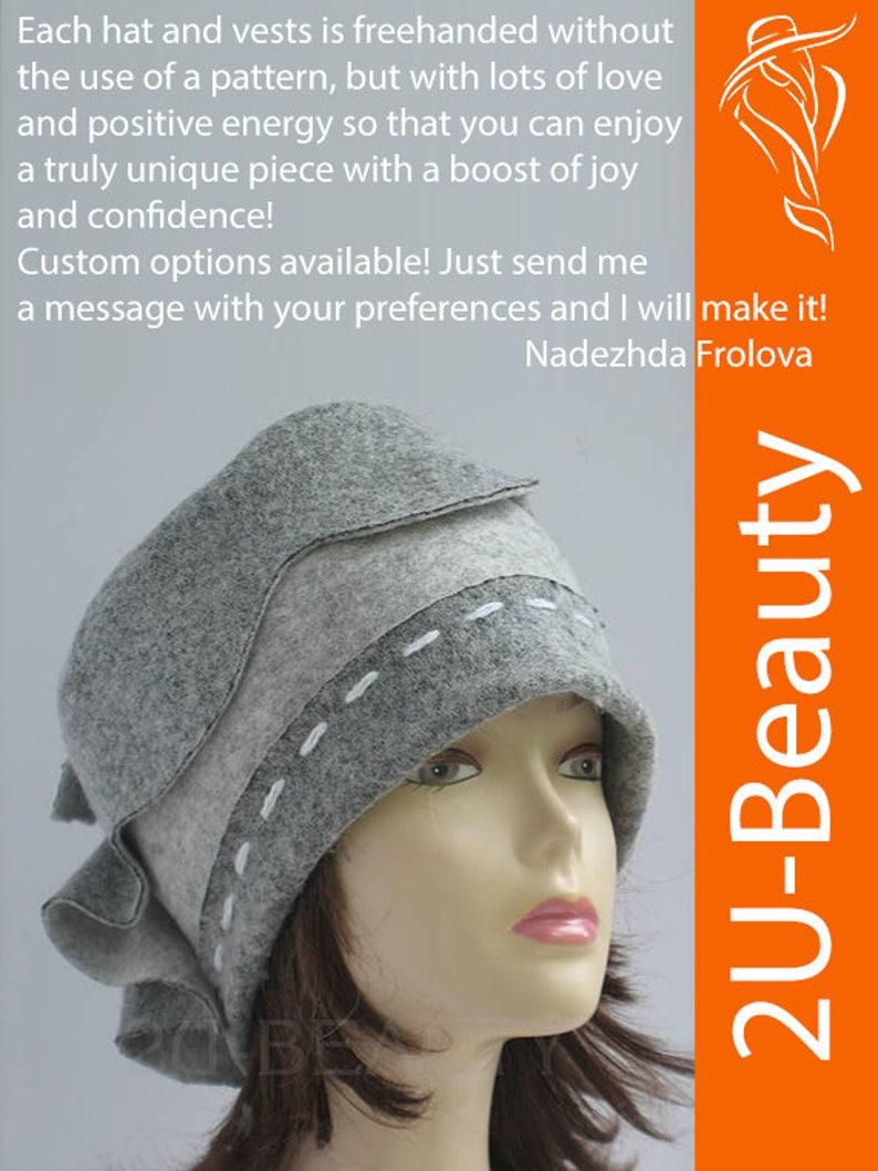 e56952b70ba75 Felted hats Women felt hat gray felt hat AUTUMN WINTER felt