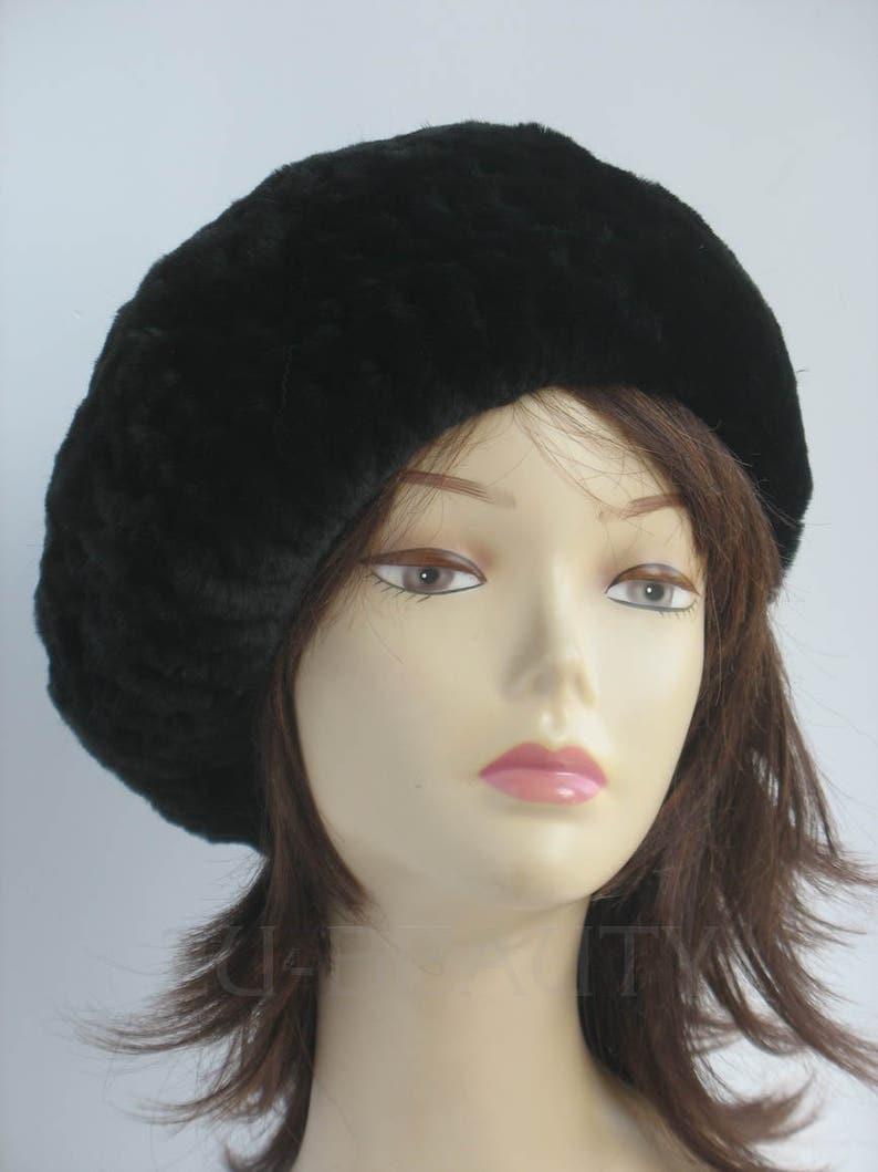 2f79f1514617f Womens beret tam hat black handmade beret winter hat accessory