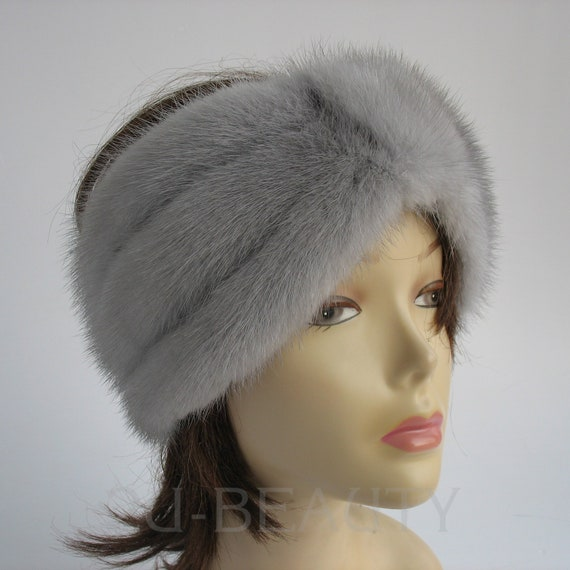 Mink Fur Hat Womans Winter Hats Handmade high Fashion gift for  f996bfbe3aa