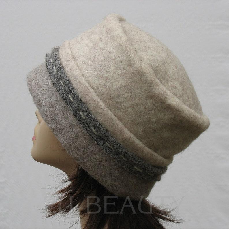 Wool Hat Women Winter Hat for Women Gray Felt Wool hat Felted Winter Hats Beret Beanie Winter Wool Hat ladies Felt Hats Felt Wool Hat Lady.
