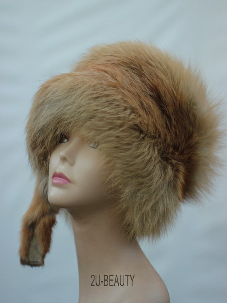 7bbc1ff1d Fox Fur Hat Hair Accessory Best Winter Hat Winter Boho Chic Hat Beanie  Steampunk Hat Pin Boho Chic Clothing for Women Warm Hat Winter Hats