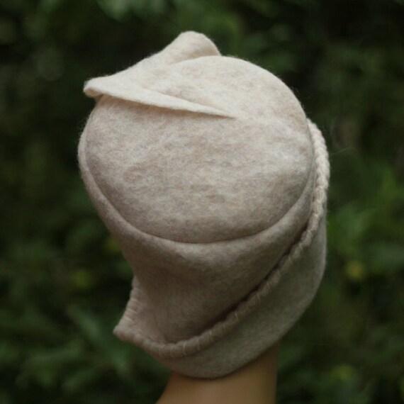 White Wool Hat For Women Winter Hats Wear Ladies Hats White ladies dress hats Felt White Top Hat Beanie Hat Victorian Riding Hat handmade .