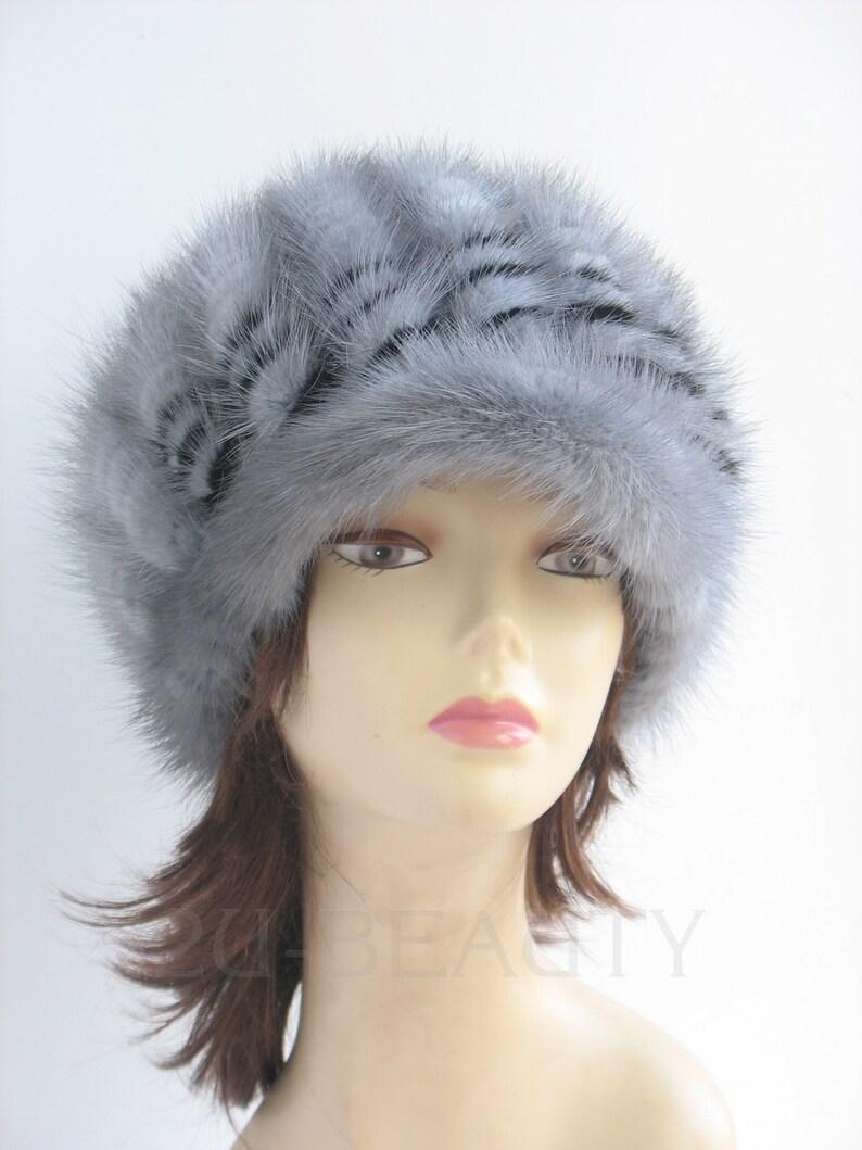 a695a594fc7738 Winter Cap Newsboy Hat 1960s Mod Cap Blue Fur Cap 1970s Warm | Etsy