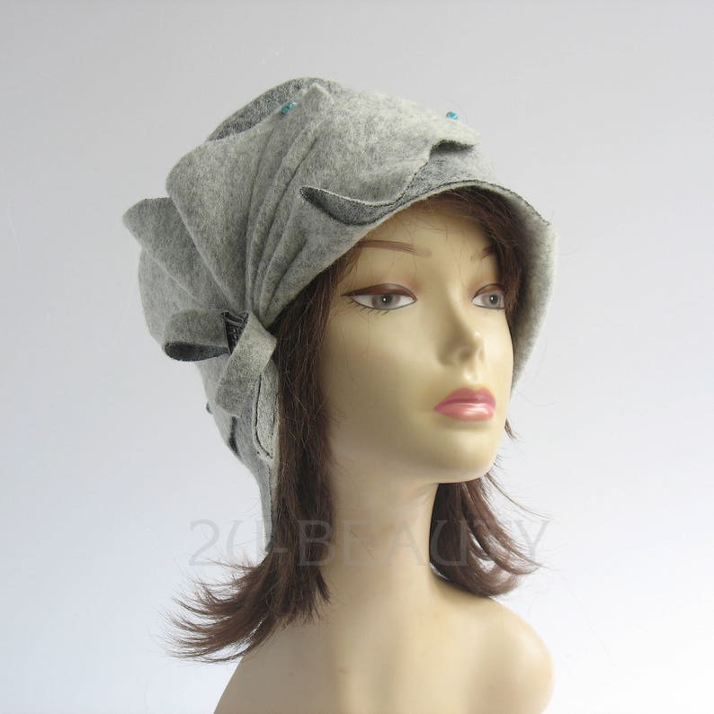 68c332a8b5f Vintage womens hats Grey womens Hat Vintage Slouch beanie