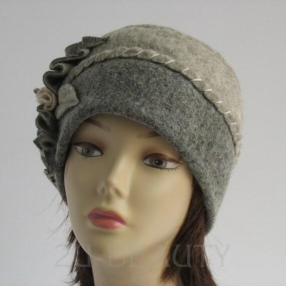 Wool Beret Hat BOHEMIA SWEDEN Woven Flower French Winter Warm Beanie Ladies
