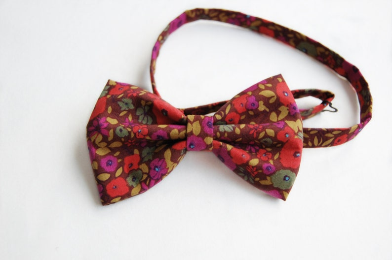 Retro Mens Bow Tie Pre Tied Floral Bow Gift For Him Adjustable Bow Ties Christmas Gift