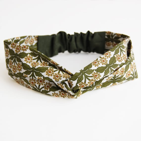 Flower hair bandeaux fabric flowers elastic headband suede band floral hairband