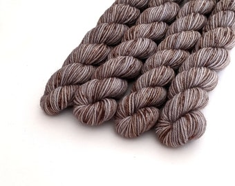 Hand dyed sock yarn, fingering weight yarn, 80/20 superwash merino wool/nylon - 'Crone' mini skeins sock yarn kettle dyed