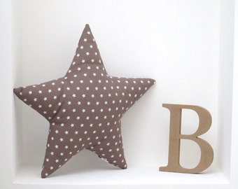 Cuddle Star - Taupe with stars