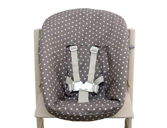 bezug f r stokke tripp trapp newborn set taupe sterne etsy. Black Bedroom Furniture Sets. Home Design Ideas