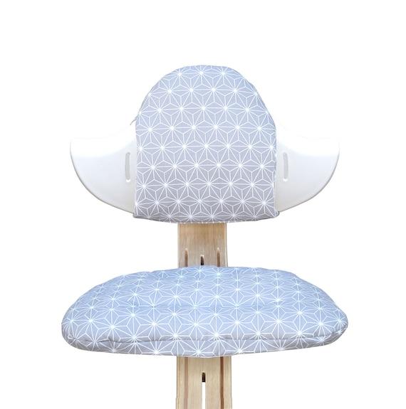 Dreiecke Grau Blausberg Baby Sitzkissen *41 FARBEN* Kissen Polster Set f/ür Stokke Tripp Trapp Hochstuhl 100/% made in Hamburg alle Materialien OEKO-TEX /® Standard 100 zertifiziert