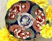Antique Imari ceramic plate bowl fluted rim 1800 39 s Japanese Meiji period hand painted original signed 日本の明治時代