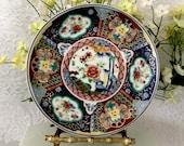 Imari plate dish multi color vintage kitchenware fine porcelain floral pattern