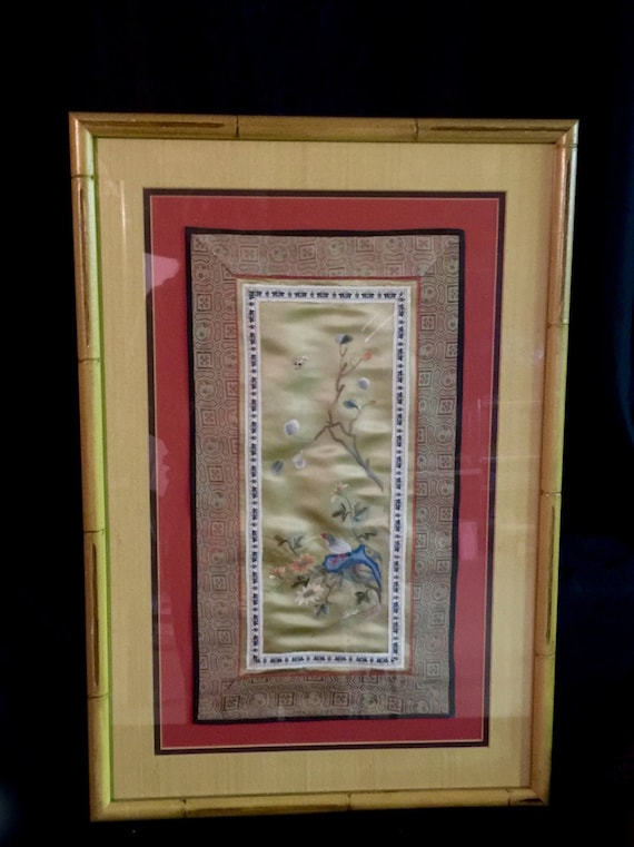 Tapestry Antique Asian Wire Silk