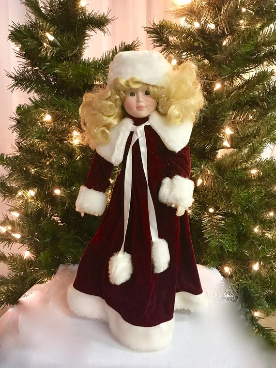 Lloyd Christmas.Christmas Porcelain Doll House Of Lloyd Christmas Melody 1990 Collection