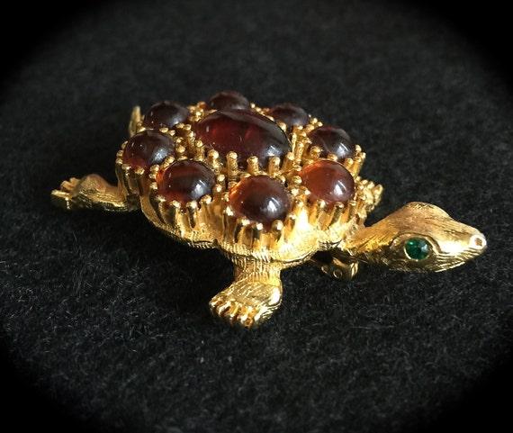 Nouveau femmes bleu et vert cristal ANIMAL TORTUE TURTLE Broche pins clip bijoux