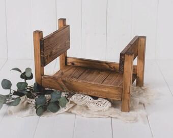 REAL WOOD Newborn Bed Prop - Rustic Oak - newborn bed prop 4cb7ab6765f3