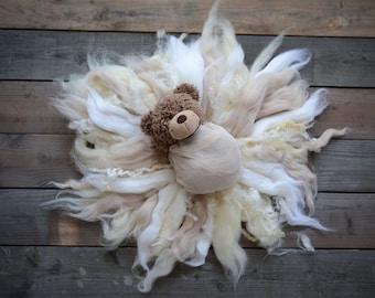 4 colors SUNSHINE BLANKET wool stuffer, newborn props, photography props, newborn photo blanket, basket filler, layering