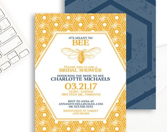 Bee Bridal Shower Invitations Meant to Bee Invite Bee Bridal Shower Invite Bridal Shower Invitations Printable Meant to Bee Invitation